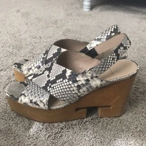 Tory Burch Snakeskin Platforms